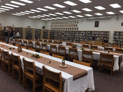 Library all ready for our Thanksgiving Feast!